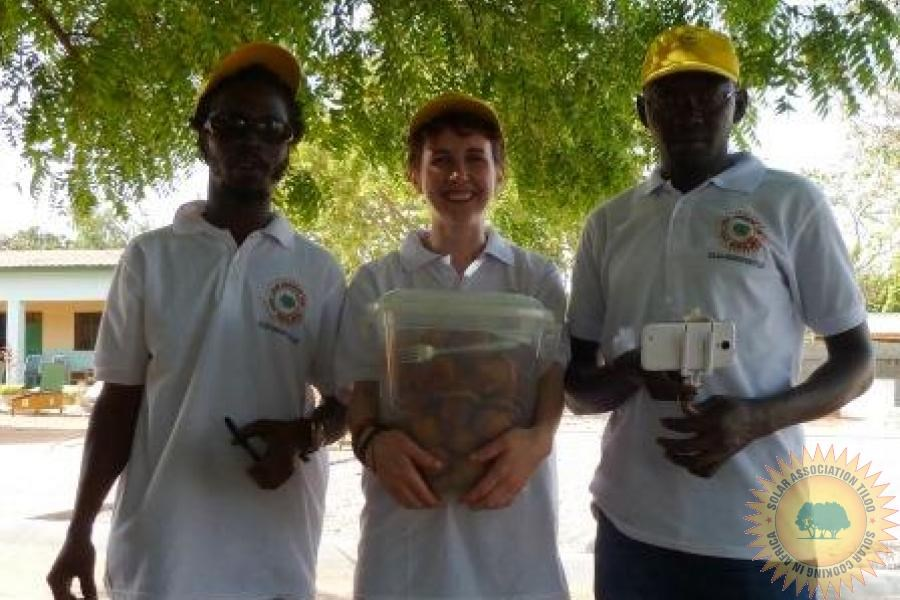 Solar Cake Latriya Sports Day Solar Association Tiloo Gambia