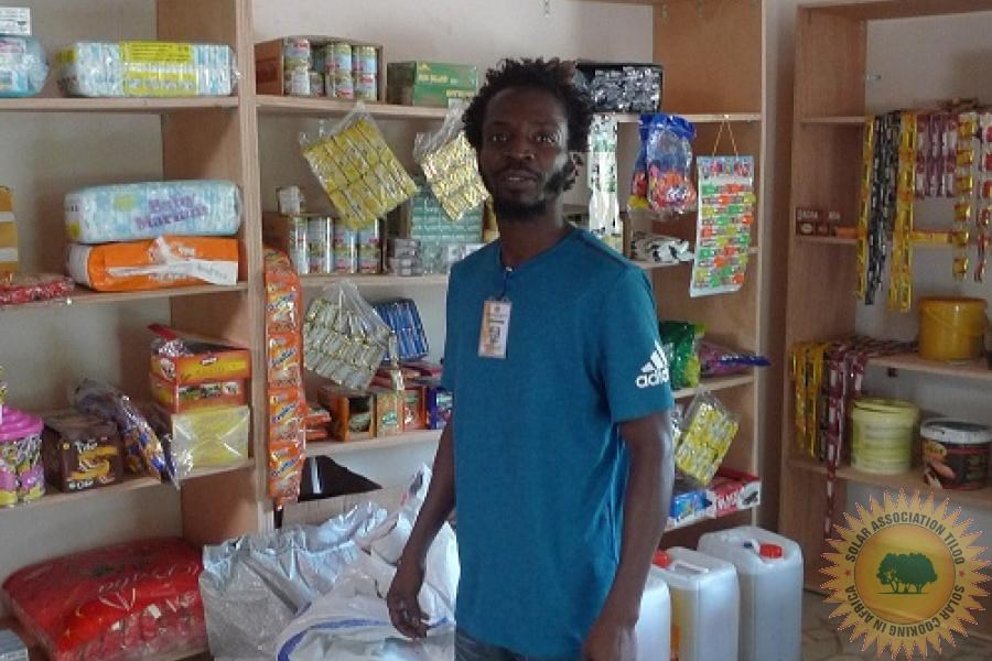Gambia, Tiloo, Shop manager
